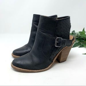 DV by Dolce Vita Shoes - DV Dolce Vita Black Leather Heeled Ankle Boot 6